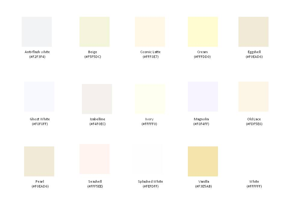 Off White Pantone Color Chart http://beethebuzzevent.wordpress.com/2011/04/08/picking-the-perfect-pallete/