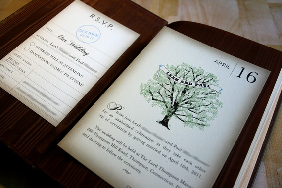 Book Themed Wedding Invitations for your inspiration to make invitation template look beautiful